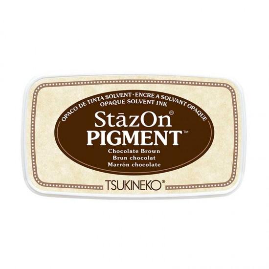 Stazon Pigment Inkpad - Chocolate Brown