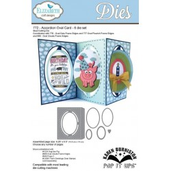 Elizabeth Craft Designs Accordion Oval Card 6 die set