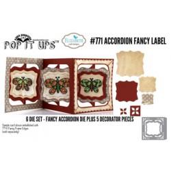 Elizabeth Craft Designs Accordion Fancy Label die set