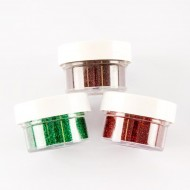 Embossing Powders Cabernet, Ruby and Emerald Twinkles