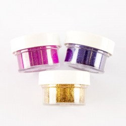Embossing Powders Violet, Fuschia and Gold Twinkles