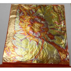 Gold Leaf Sheets Gilding Metal Oxidating Red