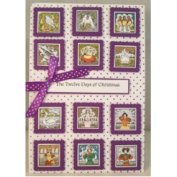 12 Days of Christmas Mini Rubber Stamp Set
