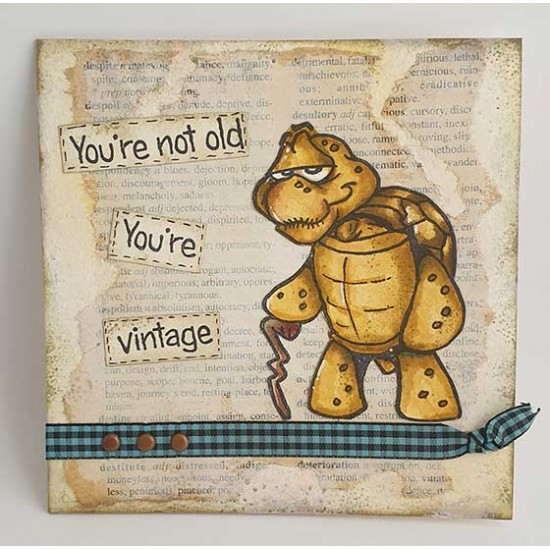 You're Not Old Turtle Cling Rubber Stamp