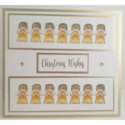 Angel Border Cling Rubber Stamp by JudiKins
