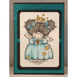 Angelica Cling Mounted Rubber Stamp
