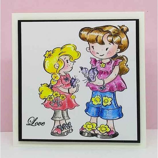 Best Friends Girls Clear Stamp Set