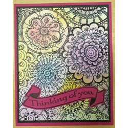Colouring Mandala Cling Rubber Stamp