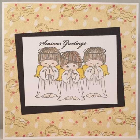 Praying Angel Cling Rubber Stamp by JudiKins