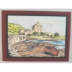 Scottish Castle Rubber Stamp