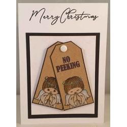 Peeking & Praying Angels Cling Rubber Stamps