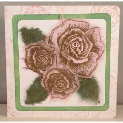 Vintage Roses set if 2 Cling Rubber Stamo