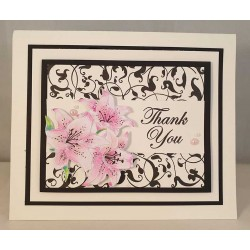 Mini Background - Arabesque Cling Rubber Stamp