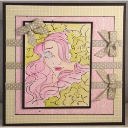 Aurora Tea Rose Rubber Stamp