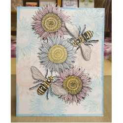 Big Bee Cling Rubber Stamp