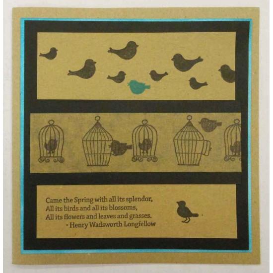 Birdcages & Butterflies Rubber Stamp Set