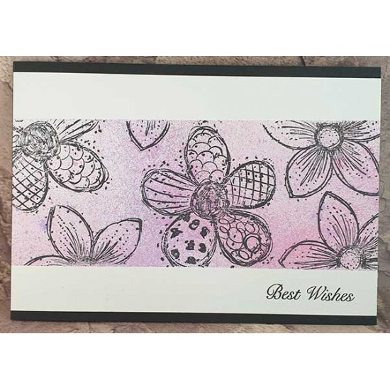 Doodle Blooms Super Sized Cling Rubber Stamps