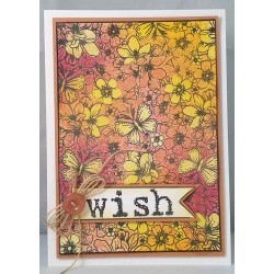 Blossom Background unmounted rubber stamp