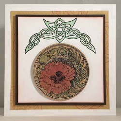 Celtic Knot Poppy Rubber Stamp