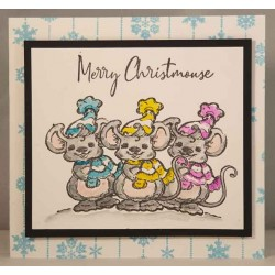 Chris Mouse Rubber Stamp