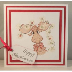 Happy Christmoose set of Cling Rubber Stamps