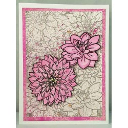 Large Dahlia Head rubber stamp