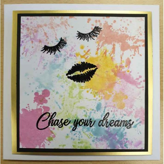 Dreaming Face Rubber Stamp