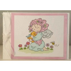 Fairy Hugs Rubber Stamp