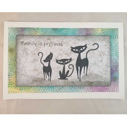 Feline Family Cling Rubber Stamp Set