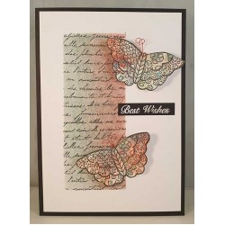 Mini Background - French Love Letter Cling Rubber Stamp