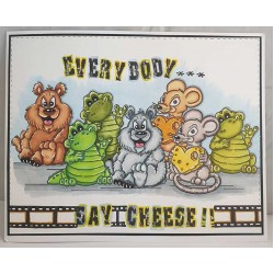 Waving Crocodile Cling Rubber Stamp