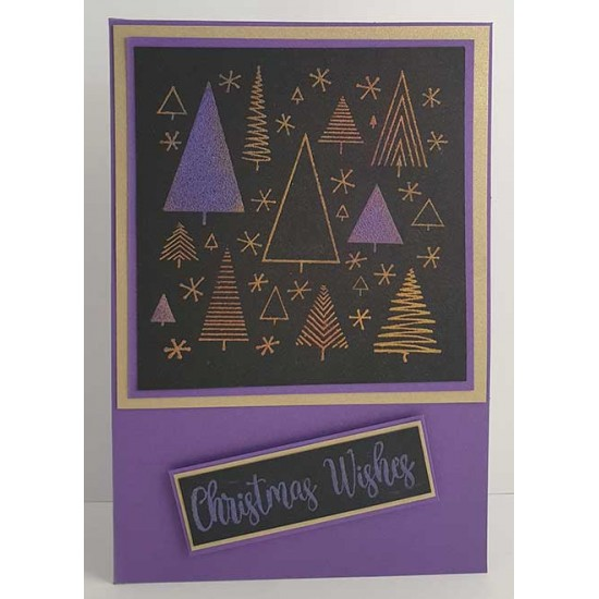 Funky Xmas Pattern Cling Rubber Stamp by JudiKins