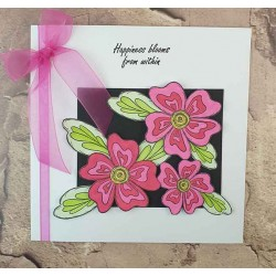 Groovy Blooms Cling mounted Rubber Stamp Set