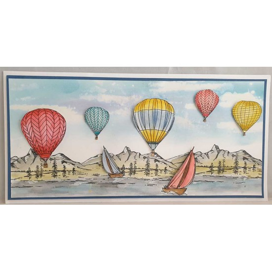 Scenic Sailing Rubber Stamp Set