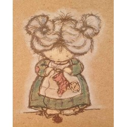 Knit a Stocking Cling Mounted Rubber Stamp