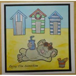 Beach Huts Rubber Stamp Set