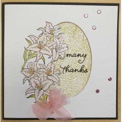 JudiKins Oriental Lily Cling Rubber Stamp