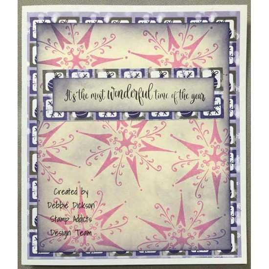 Alpine Snowflake Large by JudiKins Cling Rubber Stamp