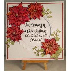 Poinsettia Large Cling Rubber Stamp