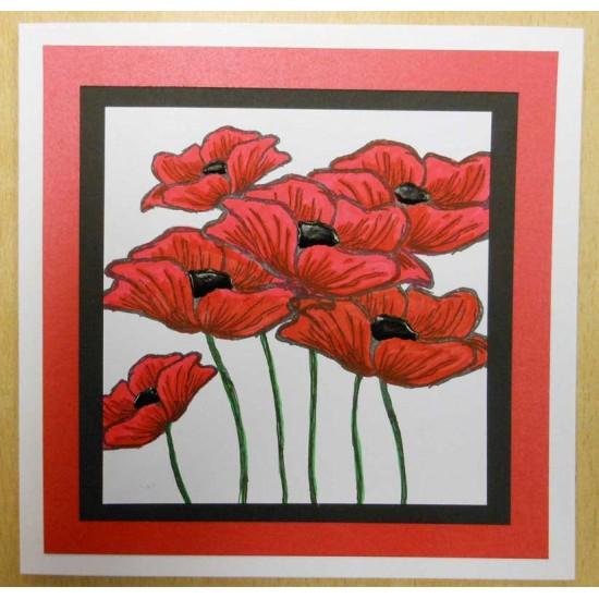 Emily's Poppy Rubber Stamp