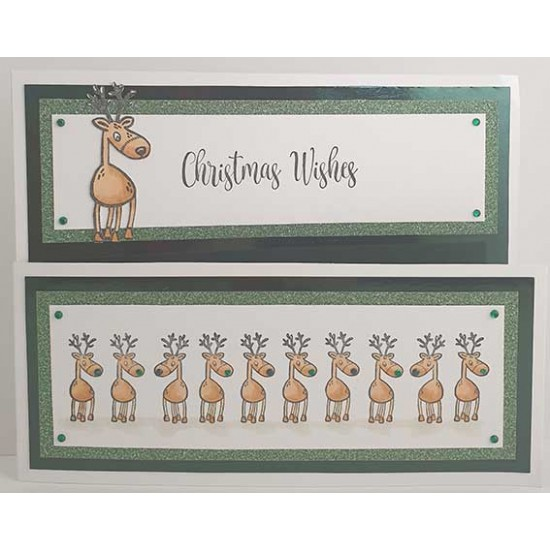 Reindeer Cling Rubber Stamp
