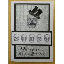 Skull-tastic Rubber Stamp Set