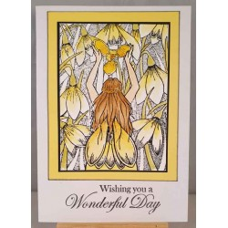 Snowdrop Fairy Cling Rubber Stamp