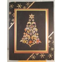Swirl Snowflake Tree Rubber Stamp