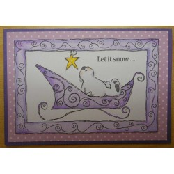 Swirly Sleigh Rubber Stamp Set