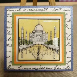 JudiKins Travels in India Cling Rubber Stamp Set