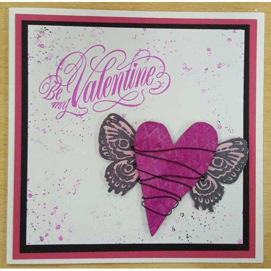 Be my Valentine Rubber Stamp