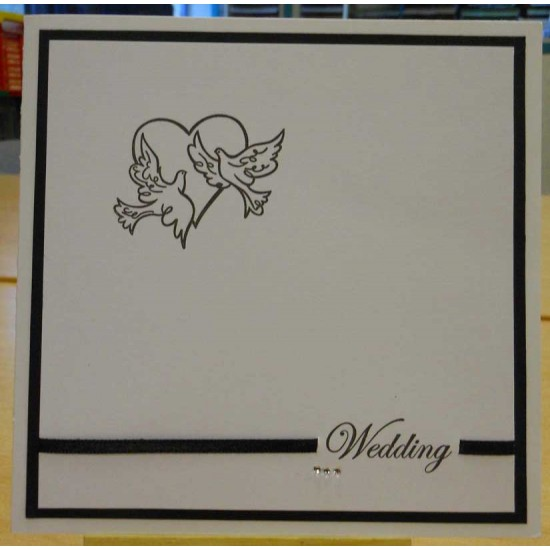 Wedding Script Invitation Rubber Stamp Set