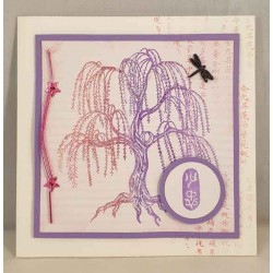 JudiKins Weeping Willow Cling Rubber Stamp