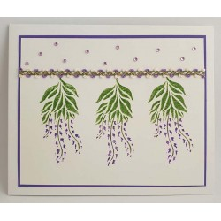 Mulberry Tree and Wisteria Cling Rubber Stamp Set